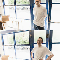 I was lucky enough to meet and shoot an inspired designer named Dean Edmonds while in London. This diptych portrait in his work space was one of my favourites.