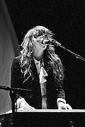 """Victoria Legrand of Beach House performs on September 3, 2010 in support of """"Teen Dream"""" at Red Rocks Amphitheater in Morrison, Colorado."""