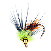 SHOT 3/31/08 9:15:24 PM - Umpqua Feather Merchants fly shot in a studio setting. Fly fishing is a distinct and ancient angling method, most renowned as a method for catching trout and salmon, but employed today for a wide variety of species including pike, bass, panfish, and carp, as well as marine species, such as redfish, snook, tarpon, bonefish and striped bass. In fly fishing, fish are caught by using artificial flies that are cast with a fly rod and a fly line. The fly line (today, almost always coated with plastic) is heavy enough cast in order to send the fly to the target. Artificial flies can vary dramatically in all morphological characteristics (size, weight, colour, etc.). Artificial flies are created by tying hair, fur, feathers, or other materials, both natural and synthetic, onto a hook with thread. The first flies were tied with natural materials, but synthetic materials are now extremely popular and prevalent. The flies are tied in sizes, colours and patterns to match local terrestrial and aquatic insects, baitfish, or other prey attractive to the target fish species..(Photo by Marc Piscotty / © 2008)