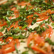 12/17/10 Wilmington DE: Fresh Mozzarella Sliced Tomato &amp; Basil pizza with No sauce at Anthony's Coal Fired Pizzas in Wilmington Delaware.<br /> <br /> Special to The News Journal/SAQUAN STIMPSON