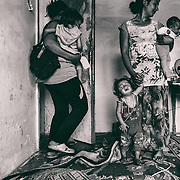 Sarajevo - 23 July 2013 - It must be difficult for these two mothers, Seherzada on the left and Gorica to raise their children without any basic essentials such as food and water.