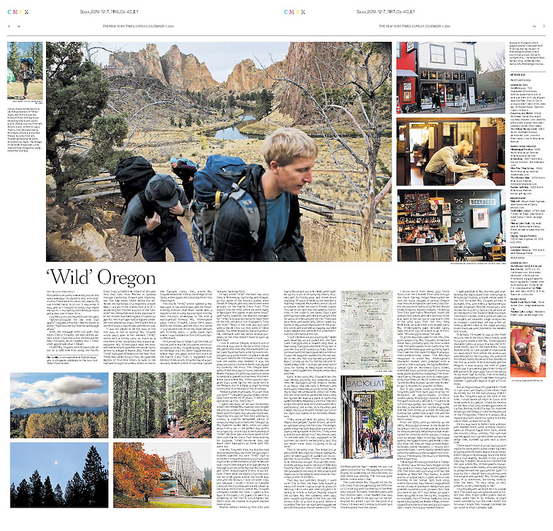 "The New York Times sent me around Oregon for a few days for a Sunday Travel centerpiece, about the adaptation of the book ""Wild"" into a movie."