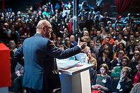 22 MAR 2017, BERLIN/GERMANY:<br /> Martin Schulz, SPD Parteivorsitzender und Spitzenkandidat der SPD zur Bundestagswahl, haelt eine Rede auf dem Neumitgliedertreffen der Berliner SPD, Festsaal Kreuzberg<br /> IMAGE: 20170322-02-115<br /> KEYWORDS: Martin Schulz, speech, Kanzlerkandidat, candidate