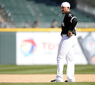 CHICAGO - APRIL 06:  Jose Abreu #79 of the Chicago White Sox looks on against the Detroit Tigers on April 6, 2017 at Guaranteed Rate Field in Chicago, Illinois.  The White Sox defeated the Tigers 11-2.  (Photo by Ron Vesely)   Subject:  Jose Abreu
