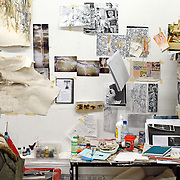 Detail of an artist studio