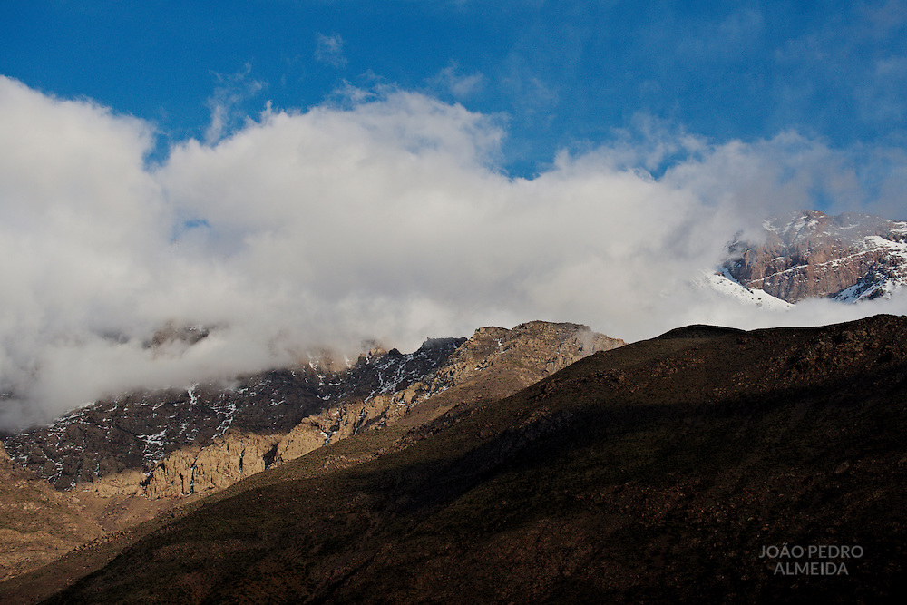 The valleys and peaks of the High Atlas nearby Imlil