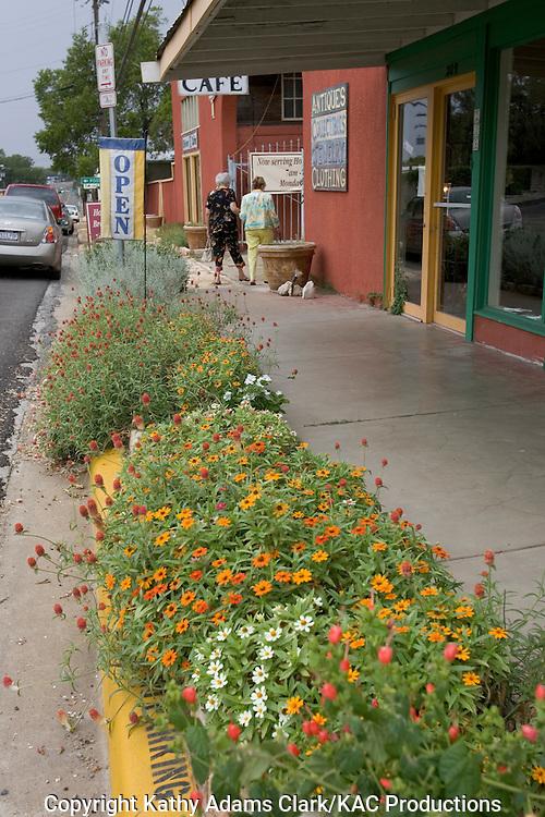 Shops on Main Street, in Johnson City, Texas.