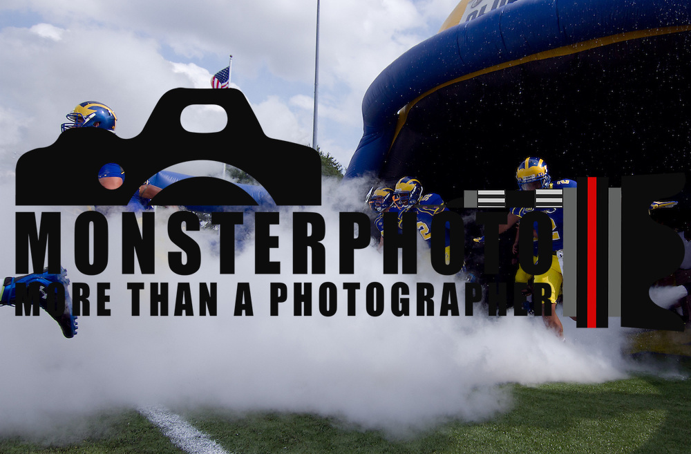 Delaware players take the field prior to a Week 2 NCAA football game against Delaware State #15 Delaware defeated Delaware State 28 -17 at Delaware Stadium Saturday Sept. 08, 2012 in Newark Delaware.