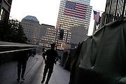 Anniversary at Ground Zero. World Trade Center, New York, New York. September 10, 2005.<br /><br />Copyright, Matt Lutton, 2005.