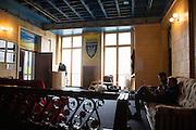 Ukrainski Swiat (Ukrainian World) museum and community center. An installation of replica artifacts from the Maidan.