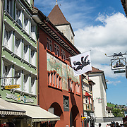 Appenzell Museum, which is in the town hall, shows a cross section of the Swiss Canton's history and culture (1400s flags and banners, embroidery, folk art, and even historic torture instruments). Appenzell village is in Appenzell Innerrhoden, Switzerland's most traditional and smallest-population canton (second smallest by area).