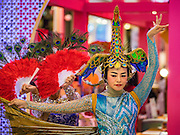 25 JANUARY 2017 - BANGKOK, THAILAND:        during Chinese New Year, also called Tet, celebrations in Bangkok. 2017 is the Year of the Rooster in the Chinese zodiac. This year's Lunar New Year festivities in Bangkok were toned down because many people are still mourning the death Bhumibol Adulyadej, the Late King of Thailand, who died on Oct 13, 2016. PHOTO BY JACK KURTZ