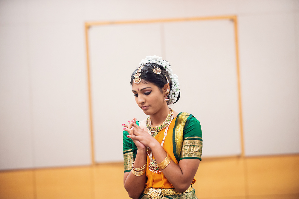 Bharatanatyam Dance Group During a Dress Rehearsal For The Sainritya Dance Group a Group of