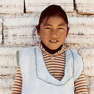 Bolivia, Uyuni. Girls working on Uyuni Salt Lake in Bolivia All miners working in the Salar belong to Colchani's cooperative.<br /> Photo&copy;AmayaRoman/Workers'Photos