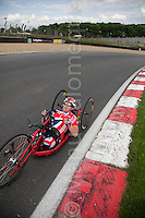 © Licensed to London News Pictures. 19/06/12. Brands Hatch, Kent. GB Paralympic cyclist trains at Brands Hatch, Kent. Up to 150 international athletes come to train at the race circuit at Brands Hatch in Kent for the Paralympic Road Cycling competition taking place on 5-8 September 2012. Picture credit should read Manu Palomeque/LNP
