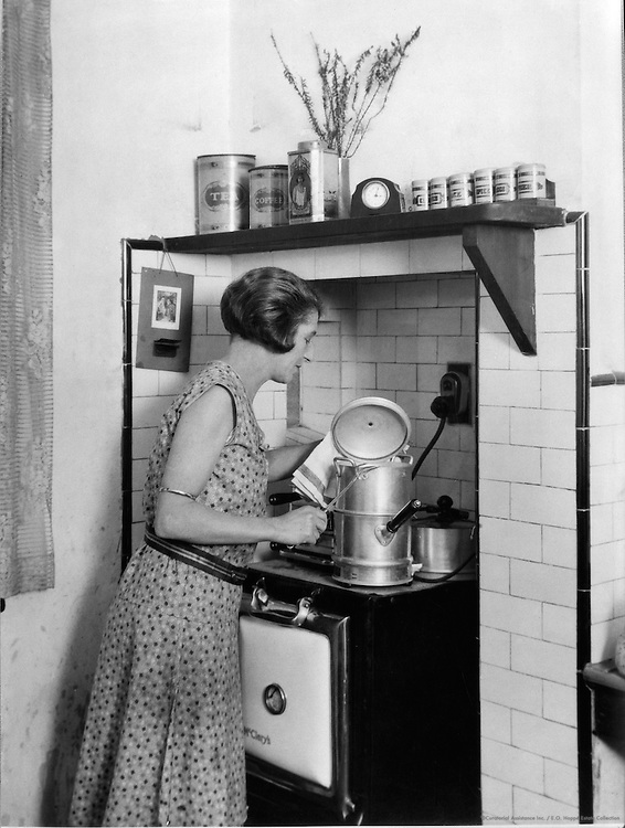 Cooking by Electricity In a Middle Class Home, Australia, 1930