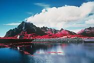 Sandvika Fjord in infrared, Kabelvåg, Norway