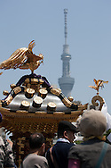 Sanja Matsuri festival, at Asakusa jinja in Asakusa district, in Tokyo, Japan, Saturday May 19th 2012.
