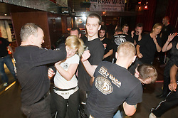 IKMS 'In The Club' seminar at the Buff Club in Glasgow's City Centre, bringing Krav Maga training out with the confines of the gym into a real nightclub/bar..Pic ©2010 Michael Schofield. All Rights Reserved.