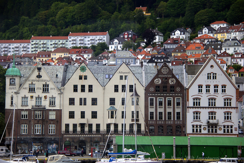 Europe, Norway, Bergen. Bergen Harbor.