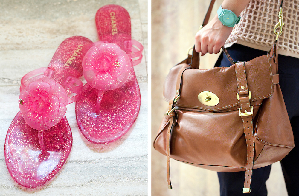 Mulberry and Chanel travel accessories