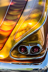 Detail of a low rider car