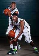 9/19/13 9:42:14 AM -- Lansing, MI, U.S.A  -- Basketball players Adriean Payne and Garry Harris will represent Michigan State as one of our Sports Weekly season preview covers. --    Photo by USA TODAY Sports Images, Gannett