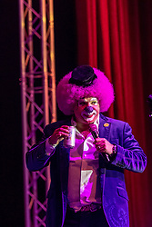ANAHEIM, CA - NOV 25: Mexican comedian Sergio Alejandro Verduzco Rubiera performed a spectacular show of his character Platanito at M3 Live on November 25, 2015 in Anaheim, California. Byline, credit, TV usage, web usage or linkback must read SILVEXPHOTO.COM. Failure to byline correctly will incur double the agreed fee. Tel: +1 714 504 6870.