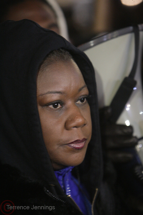 """New York, NY-February 26: Sabrina Fulton attends the """" Million Hoodie """"  Candlelight vigil honoring the one-year anniversary of Trayvon Martin's death held at Union Square Park on February 26, 2013 in New York City.© (Terrence Jennings)"""