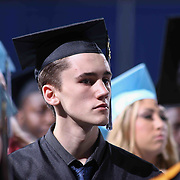 John Dickinson High School graduates watch Dickinson 55th commencement exercises Saturday, June 06, 2015, at The Bob Carpenter Sports Convocation Center in Newark, Delaware.