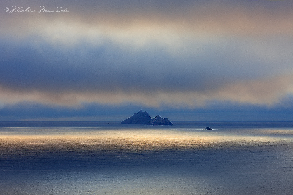 Mystical Sunset Light over Skellig Michael and Little Skellig Island, County Kerry, ireland / sk034 I love the Skelligs, ****** <br />