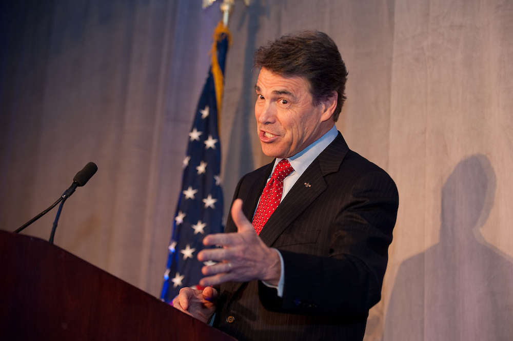 Governor Rick Perry was the keynote speaker at the Pioneer Institute's 2011 Better Government Competition Awards Dinner held at the Hyatt Regency, boston, Sept. 13.