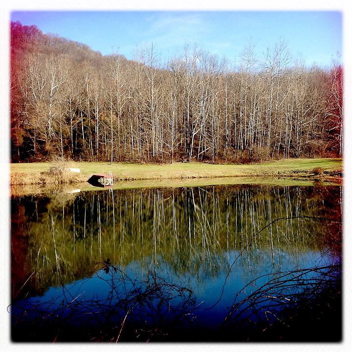 Lake reflections - Dutchess County, New York
