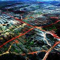 KEPPI , APRIL 30 2007: A view of a destroyed area  of  the rainforest near Tamena in southern Papua . In Southern Papua the forest stretches over an area of 15 million hectar.  Logging is one of the major causes of environmental destruction in West Papua. As Indonesia's own forest resources decline, it has turned its attention to West Papua. Indonesia's forest practices generally have little or no attention paid to the environmental impact of logging. Many of the indigenous people of West Papua are threatened as vast tracts of land have been granted as concessions to timber companies, a practice which is having severe social and physical consequences. . The island of New Guinea is one of the most biologically diverse in the world. There are species of flora and fauna in common with Australia, such as some marsupials, the bird of paradise and eucalyptus trees. Numerous species, unique to the island, are threatened by logging and other development projects. . Second only to the Amazon, the island of New Guinea has one of the largest tracts of tropical rainforest left in the world. West Papua's forests, rich in bio-diversity, account for approximately 34.6 million hectares or 24 per cent of Indonesia's total forested area of 143 million hectares. Over 27.6 million hectares of forest in West Papua have been designated as production forest.