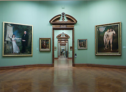 Interior of National Gallery of Ireland in Merrion Square in Dublin Ireland