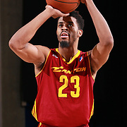 Canton Charge Forward DJ STEPHENS (23) attempts a free-throw in the first half of a NBA D-league regular season basketball game between the Delaware 87ers and the Canton Charge Tuesday, JAN, 26, 2016 at The Bob Carpenter Sports Convocation Center in Newark, DEL.