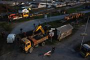 Removal of train tracks near the railway station.<br /> <br /> Savamala neighborhood of Belgrade, Serbia.