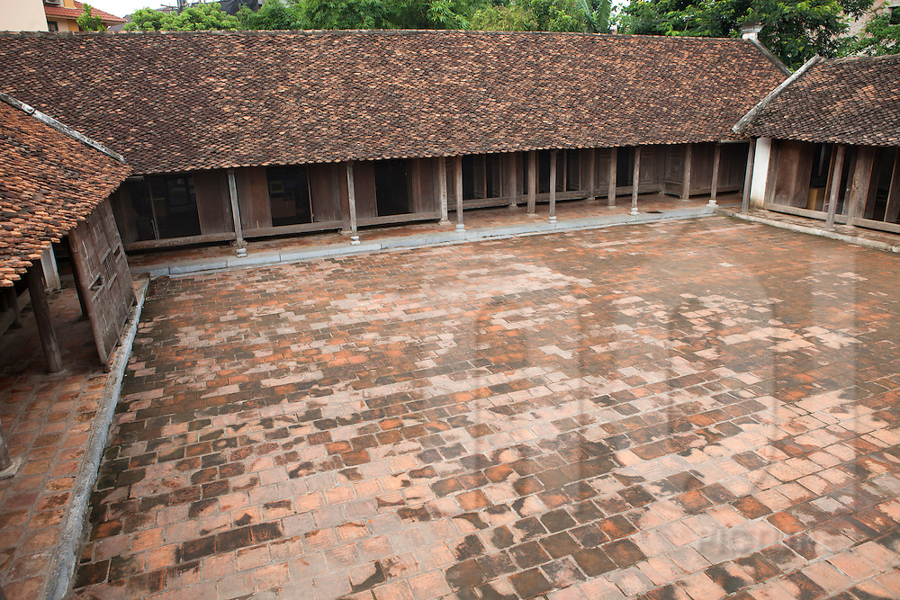 Paved courtyard of a traditional house in Ethnology museum, Hanoi, Vietnam, Asia.