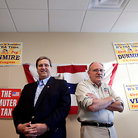 ORLANDO, FL -- October 21, 2010 -- Florida Tea Party chairman Fred O'Neal, right, and chief strategist Doug Guetzloe pose for a portrait at the Florida Tea Party offices in Orlando, Fla., on Thursday, October 21, 2010.