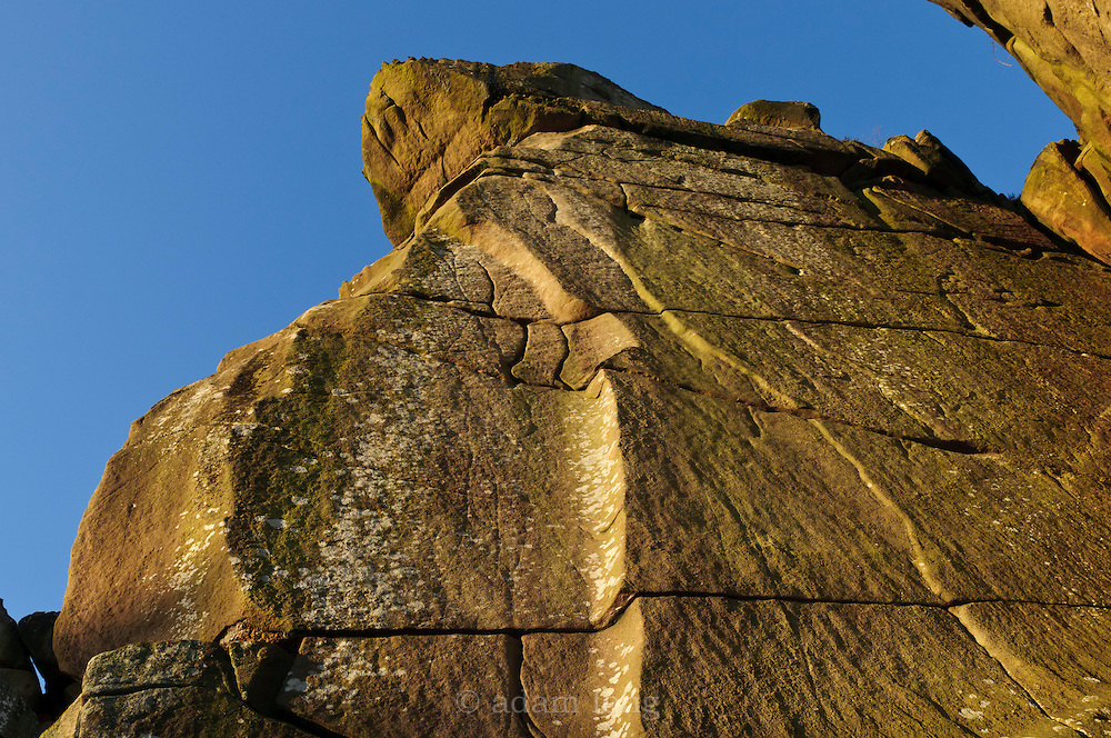 The walls of Owl Gully, Cratcliffe, home to routes like The Groove, Fern Hill and Five Finger Exercise.