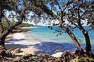 The beach at Villa Maguana, Baracoa, Guantanamo Province, Cuba.