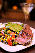 March 5, 2009; Mount Dora, Florida:  .Strip Steak salad from Waterman Village The Bistro..© 2009 Scott A. Miller