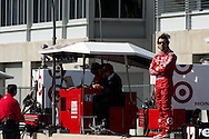 20-21 Febuary, 2012 Birmingham, Alabama USA.Dario Franchitti on pit wall..(c)2012 Scott LePage  LAT Photo USA