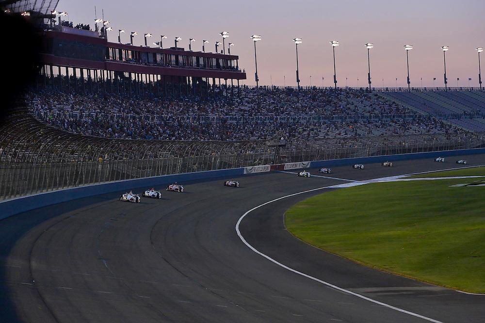 Juan Pablo Montoya, Helio Castroneves, Auto Club Speedway, Fontana, CA USA 8/30/2014