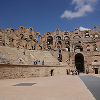 El Djem's amphitheater in Tunisia could seat 35,000