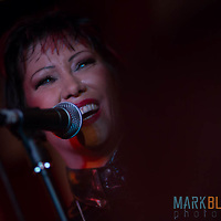 Saffron plays a solo gig at London's 100 Club