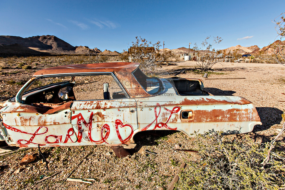 Abandoned ghost town of Rhyolite, NV.