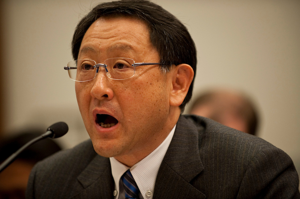 Feb 24,2010 - Washington, District of Columbia USA - .Akio Toyoda, the president and CEO of Toyota testifies before members of the House Oversight and Government Reform committee on the recall of 8 million vehicles worldwide..(Credit Image: © Pete Marovich/ZUMA Press)