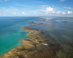 Aerial view of Montgomery Reef