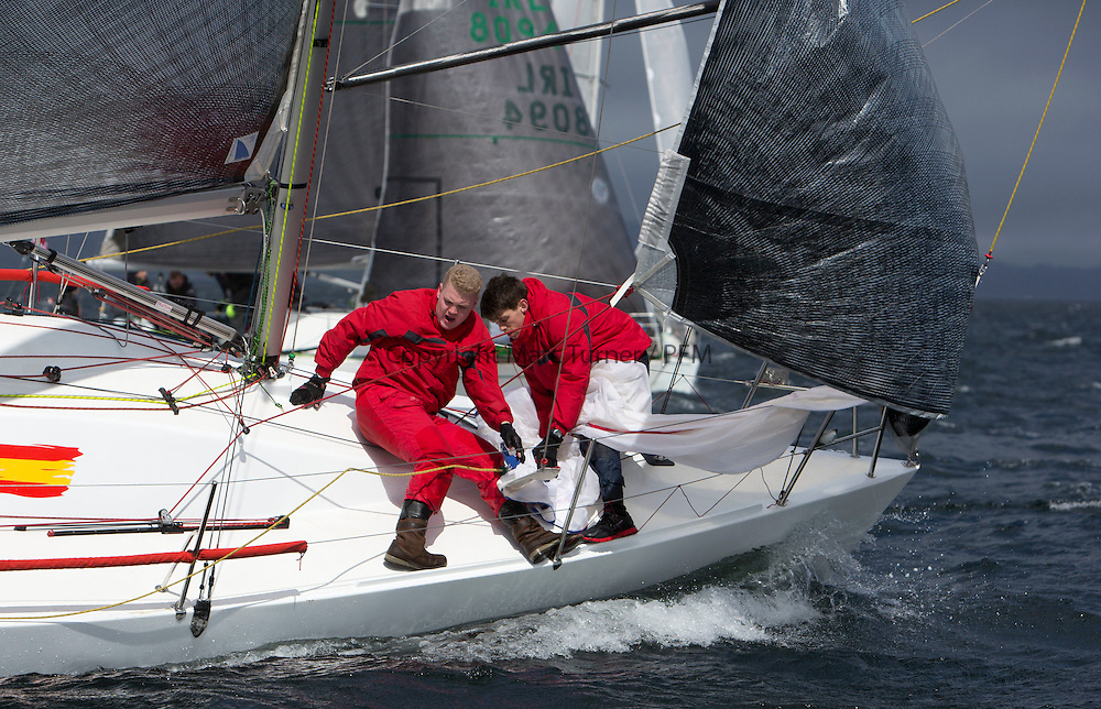 Day one of the Silvers Marine Scottish Series 2015, the largest sailing event in Scotland organised by the  Clyde Cruising Club<br /> Racing on Loch Fyne from 22rd-24th May 2015<br /> <br /> GBR6521, Trastada, Roddy Angus/D Challis, FYC, Half Tonner<br /> <br /> Credit : Marc Turner / CCC<br /> For further information contact<br /> Iain Hurrel<br /> Mobile : 07766 116451<br /> Email : info@marine.blast.com<br /> <br /> For a full list of Silvers Marine Scottish Series sponsors visit http://www.clyde.org/scottish-series/sponsors/